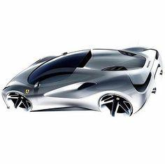 Ferrari 488 Spider sketch by designer Matteo de Petris ( Car Design Sketch, Car Sketch, Suv Cars, Sport Cars, Automobile, Ferrari 488, Futuristic Cars, Car Drawings, Transportation Design