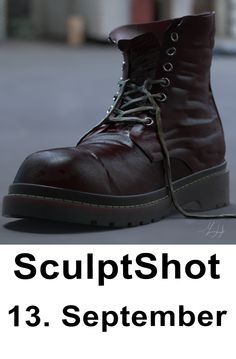 Maya Modeling, 3d Studio, Zbrush, Sculpting, Combat Boots, Fashion, Moda, Sculpture, La Mode
