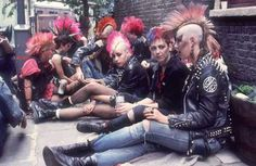 old cartoons from the 70s and 80s | Not much anarchy in the UK... the punk movement has moved to pastures ...