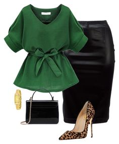 """verde"" by anamaria-64 on Polyvore featuring Paco Rabanne and Coach"
