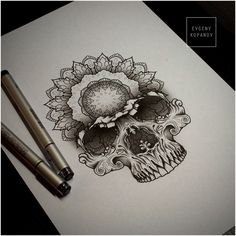 Skull art skull art tattoos, tattoo drawings и mandala tatto Head Tattoos, Skull Tattoos, Love Tattoos, Beautiful Tattoos, Body Art Tattoos, Et Tattoo, Piercing Tattoo, Tattoo Drawings, Piercings