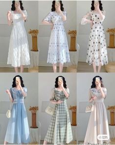 Beautiful Casual Dresses, Cute Dresses, Kpop Fashion Outfits, Fashion Dresses, Girls Frock Design, Fairytale Dress, Frocks For Girls, Korean Girl Fashion, Fantasy Dress