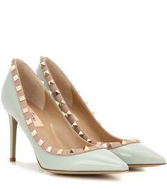 mytheresa.com - Rockstud patent leather pumps - Luxury Fashion for Women /  Designer clothing