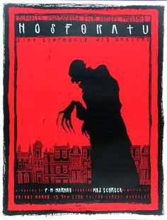 Nosferatu~ Still the scariest looking vampire! Great poster, too! Horror Movie Posters, Movie Poster Art, Horror Movies, Max Schreck, Scary Movies, Good Movies, Norman Rockwell, Nosferatu 1922, Laurent Durieux