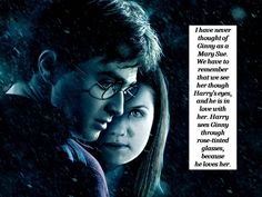 Wow, never thought of it from that perspective.  I am still ambivalent about her and Harry as a couple and about her character in general, but this makes a valid point.
