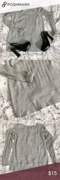 Gray Sweater Gray Sweater - Slight High Low Style - Gently Used Condition - Offers Welcomed Apt. 9 Sweaters