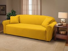 Yellow Jersey Sofa Stretch Slipcover, Couch Cover, Chair Loveseat Sofa Recliner