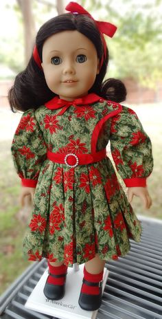 1930's Style Christmas Dress for AG dolls by Designed4Dolls on Etsy  $22.95