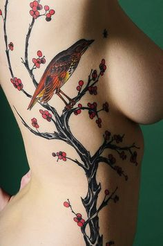 bird rib tattoos
