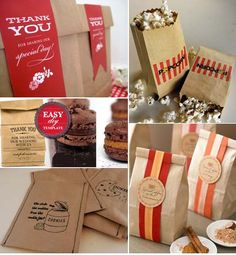 Brown paper bag favor bags