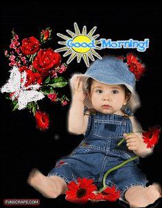 Cute Baby Girl Good Morning Gif Nidetec
