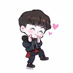 Oh chibi hun Character Drawing, Character Design, Chanbaek Fanart, Hunhan, Sekai Exo, Kpop, Exo Cartoon, Exo Stickers, Exo Anime
