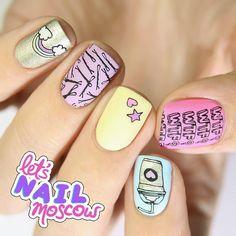 #nails #nailart #beautifulnails #funnails #ногти #маникюр #красивыеногти Я не могу нарадоваться этой коллекции #TumblrGirl от @moyou_london  Вот правда все эти принты как будто для меня создавали)) Я пока что распробовала только одну из плиток - что-то просто стемпинг что-то - обратный стемпинг.  Кто еще не принимает участие в розыгрыше с предыдущего фото - зря!)) Я разыгрывают одну из плиток этой коллекции и даже у меня ее нет))) А на ней...