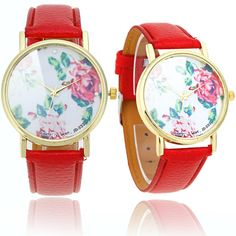 Hey! girls, look at here, What a exquisite #quartzwristwatch, Dial decorated by #peonyflowers makes the watch have a great sense of art. Make you looks more #elegant, High quality PU leather strap, soft and comfortable to wear. Perfect gift for your friends or relatives.
