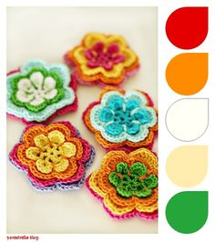 Inspiration... Flores de crochet, photographed by Therese Hagstedt . Seen on Pinterest.