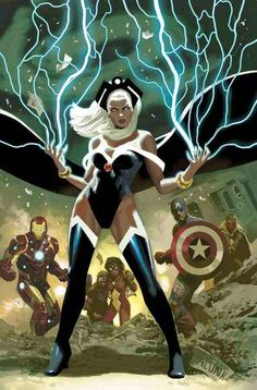 Storm from Marvel Comics, Avengers Storm was always my favorite of the X-men. Marvel Dc Comics, Comics Anime, Bd Comics, Marvel Vs, Marvel Heroes, Comic Book Characters, Comic Book Heroes, Marvel Characters, Comic Character