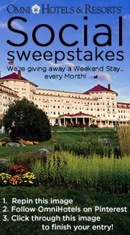 Your chance to win a weekend stay at your favorite Omni Hotel, every month! @OmniHotels #SocialSweepstakes