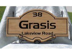 Grasis Family Name and Address Sign