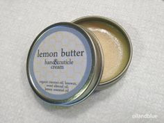 oil and blue: DIY LEMON BUTTER HAND AND CUTICLE CREAM