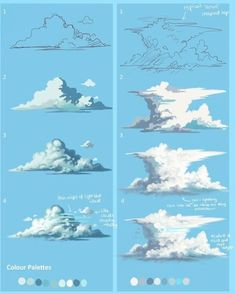 Development of a cumulous Cloud into a Cumulonimbus storm cloud.You can find Storm clouds and more on our website.Development of a cumulous Cloud into a Cumulonimbus storm cloud. Digital Painting Tutorials, Digital Art Tutorial, Art Tutorials, Concept Art Tutorial, Aesthetic Painting, Painting Techniques, Oil Painting For Beginners, Art Inspo, Art Lessons