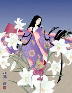 A woman dressed in junihitoe Heian Era, Heian Period, Geisha Anime, Kokeshi Dolls, Japanese Outfits, Asian Art, Japanese Art, Art Reference, Fantasy Art