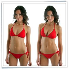 659976a02bc13 Before and After shot in the Envy Push Up String Bikini Top. Each Voda Swim  top has the Envy Push Up® technology to visually increase bust size by up  to two ...