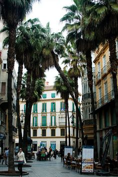 ysvoice:| ♕ |  Street of Malaga, Spain  | by ntalka | via iloveeurope