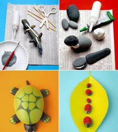 Surprisingly Awesome DIY Rock Crafts Creative kids craft- turn stones into animals
