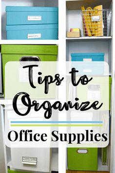 10 tips to organize office supplies at home so that they're functional and pretty. Make the most of a small space with careful planning and organizing. Small Office Organization, Office Supply Organization, Organization Hacks, Organization Ideas, Storage Ideas, Household Organization, Office Storage, Storage Solutions, Home Office Closet