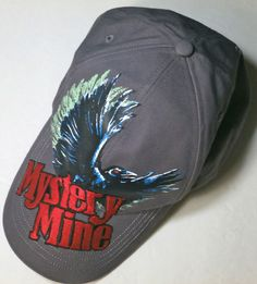 Baseball Cap Dollywood Mystery Mine Black Raven Blue Cotton Adjustable Strap
