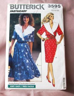 1989 Uncut Fast & Easy  Butterick Pattern  by lovelylovepatterns