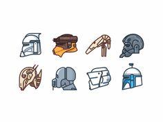 Star Wars Helmets by Aleksandar Savic Clone Trooper Helmet, Star Wars Helmet, Star Wars Clone Wars, Star Wars Art, Star Trek, Nerdy Tattoos, Game Tattoos, Star Wars Classroom, Cuadros Star Wars