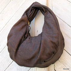 Soft Leather Slouchy Hobo Bag