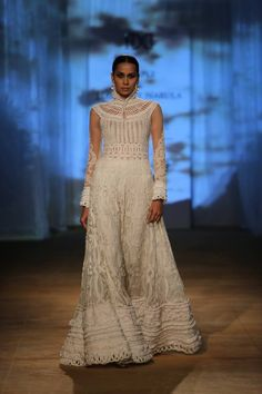 Rimple & Harpreet Narula at India Couture Week 2014 - lace white dress