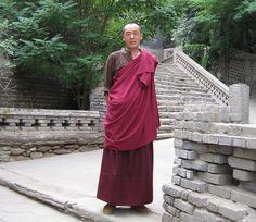 Monk in Lanzhou, Gansu Province, China