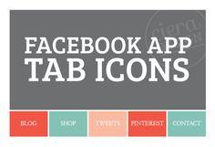 Facebook Page App Tab Icons - Serif Design