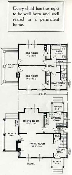 1926 Standard House Plans: The Milton