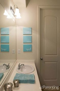 DIY Bathroom Decor Ideas for Teens - Bathroom Canvas Art - Best Creative, Cool Bath Decorations and Accessories for Teenagers - Easy, Cheap, Cute and Quick Craft Projects That Are Fun To Make. Easy to Follow Step by Step Tutorials http://diyprojectsforteens.com/diy-bathroom-decor-teens