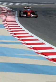 on Track during the 2014 Ferrari Bahrain test
