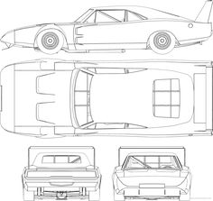 The-Blueprints.com - Blueprints > Cars > Dodge > Dodge Charger ...