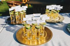 Tequila Shots as escort cards. The Groom + Groomsmen Wore Green Charro Suits at this Wild Baja California Wedding Wedding Table Setup, Seating Chart Wedding, Wedding Table Numbers, Wedding Locations California, California Wedding, Baja California, Wedding Cards, Wedding Favors, Charro Wedding