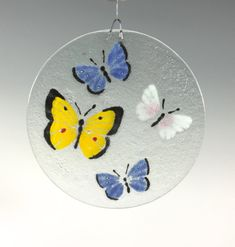 Butterfly Suncatcher Butterfly Window Hanging Slumped Glass, Fused Glass Art, Rainbow Butterfly, Glass Butterfly, Window Hanging, Sun Catcher, Glass Design, Hostess Gifts, Teacher Gifts