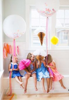 Adoring these cute ice cream party ideas!