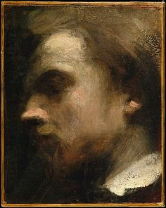 Self-Portrait, ca. 1858.  Henri Fantin-Latour