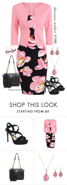 """""""Dress under $100 - Rosegal"""" by florymcintee ❤ liked on Polyvore"""
