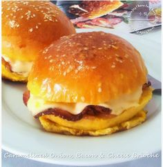 Caramelized Onion, Bacon and Cheese Brioche (Recipe included)