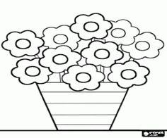 Omalovánka Květiny v květináči
