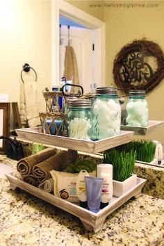 51 Awesome DIY Organization Bathroom Ideas You Should Try Bathroom Decoration guest bathroom decor ideas Diy Organizer, Bathroom Organization, Organization Ideas, Bathroom Storage, Storage Ideas, Storage Boxes, Budget Storage, Countertop Organization, Countertop Decor