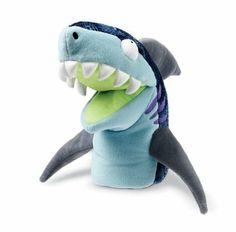Bruce and Chum the Shark (puppet)  Song used with shark puppet (change word to blue rather than grey):  https://www.dropbox.com/s/edjxryo9vj35719/Big%20Grey%20Shark.pdf