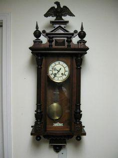 Antique German Gustav Becker Vienna Regulator Wall  clock